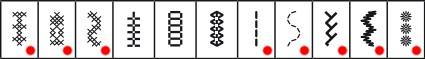 Liste des points d'aiguille d'art sur une Pfaff Passport 2.0 et 3.0