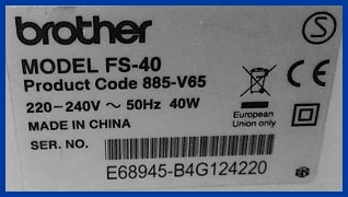Etiquette Brother FS-40