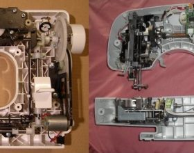 Machine à coudre mécanique versus électronique